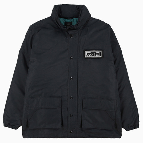 OBEY 오베이 자켓_DERBY BOX PARKA-BLACK