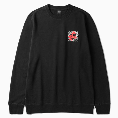 OBEY 오베이 크루넥_BIG BOY PANTS BASIC CREWNECK-BLACK