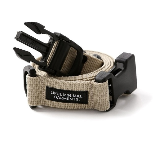 LIFUL 라이풀 벨트_BUCKLE WEBBING BELT-BEIGE