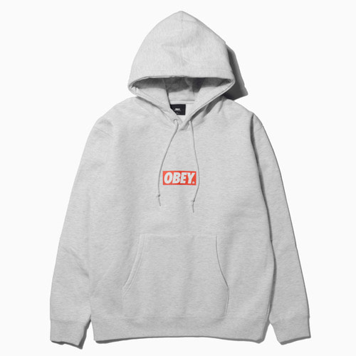OBEY 오베이 후드티_OBEY BAR LOGO HOOD-ASH GREY