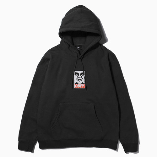 OBEY 오베이 후드티_OBEY ICON FACE HOOD-BLACK