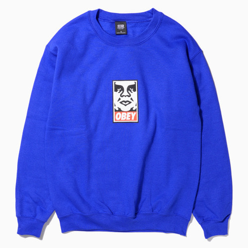 OBEY 오베이 크루넥_OBEY ICON FACE CREWNECK-ROYAL BLUE