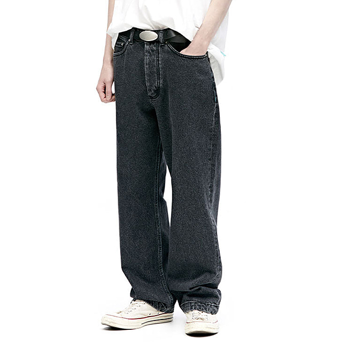 87MM 엠엠엘지 바지 WAVE JEANS-WASHED BLACK